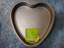 """New listing Kate Spade New York Red """"She Follows Her Nose and Her Heart"""" Cake Pan - Nwt!"""
