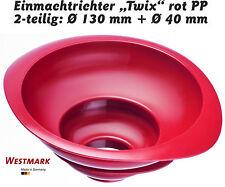 SET: 2 Einfülltrichter TWIX Rot Kunststoff PP Westmark,Trichter Einmachtrichter