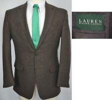 RALPH LAUREN designer BROWN TWEED mens blazer sport coat sz 48L 48 LONG