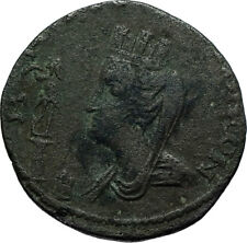 GORDIAN III 238AD Edessa Rare Authentic Ancient Roman Coin TYCHE AQUARIUS i66495