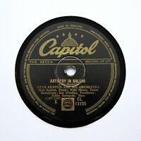"""STAN KENTON & HIS ORCHESTRA """"Artistry In Bolero"""" (E+) CAPITOL CL-13155 [78 RPM]"""