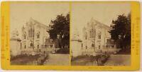 Francia, Normandie Eu Eglise Foto Jules Valecke Stereo Vintage Albumina C1868