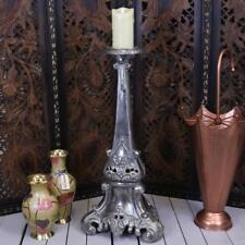 Tagar Vintage 70cm Candle Stand Aluminium Baroque Gothic Pillar Church Scented