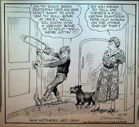 Out Our Way JR Williams Original Comic Strip Art October 29 1952 Scottie Dog