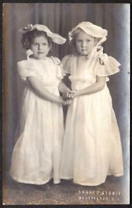 Huntington, Long Island, NY Antique Photo 1920s - Cute Girls in Easter Dresses