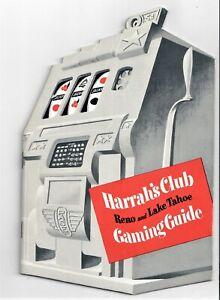1957 Harrah's Club Casino Reno Tahoe Gaming Guide NV Die Cut Pace Slot machine
