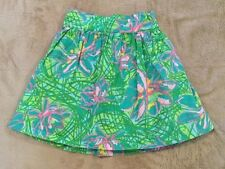 LKNW Lilly Pulitzer Green Pink Floral Twirl Skirt 4 4T