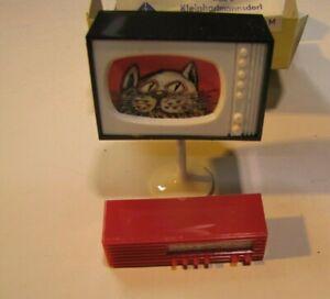 Puppenhausmöbel  Puppenhaus  TV und Radio  VEB   DDR  Vero