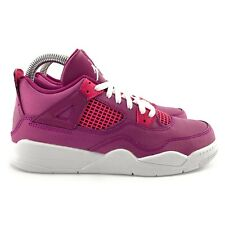 Nike Youth Jordan 4 Retro True Berry Rush Pink White Athletic Shoes Size 1Y (PS)