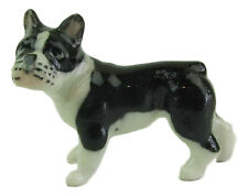 Miniature Porcelain French Bulldog Figurine Approx 1.5cm HIgh (TINY)