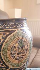 More details for antique isnik blue pottery vase signed on the base good condition
