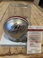 Eddie George Autographed/Signed Mini Helmet JSA COA Ohio St Buckeyes