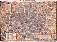 Reproduction plan ancien - Paris vers 1575