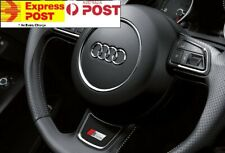 AUDI RS SLINE STEERING WHEEL STICKER BADGE FOR A3 A4 A5 A6 A7 Q3 Q5 Q7 TT S LINE