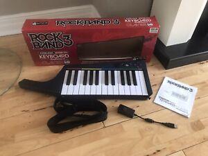 Rock Band 3 Wireless Keyboard Playstation 3 PS3 Manual Boxed
