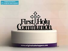 """First Holy Communion"" Black - Cake Topper - Made by OriginalCakeToppers"