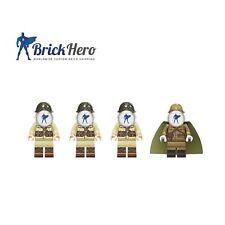Custom WW2 Japanische Soldaten mit Offizier 4 Stk. - Lego Kompatibel