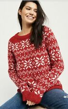 New Abercrombie & Fitch Women's Holiday Red Sweater, $78