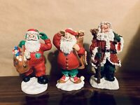 Santa Figurines (Lot Of 3)