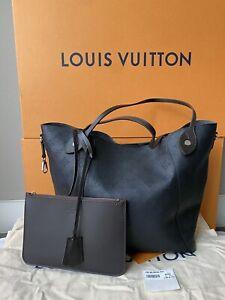 LOUIS VUITTON Hina MM Mahina Noir Black Perforated Monogram Leather Tote Bag