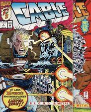 CABLE: BLOOD AND METAL #1,2 Marvel Comics SIGNED BY ROMITA Jr SET & BONUS X-Men