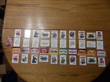 Garbage Pail Kids Krashers 41 Card Set 21 base 10 Artist Rough 10 License Plate