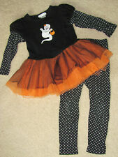 Bonnie Jean Girls Size 5 Boo Ghost Halloween Fall Holiday Matching Set