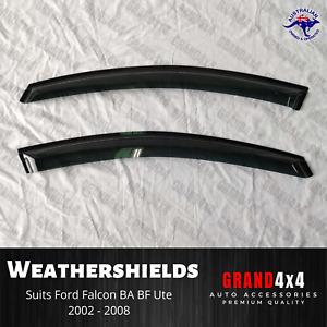 Weathershields Window Visors for Ford Falcon BA BF Fairmont Ute 2002 - 2008