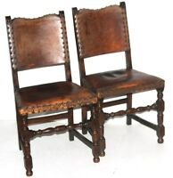 Pair of Antique Cromwellian Mahogany Dining Chairs - FREE Shipping [PL4218]