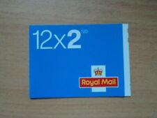 GB 2002 4 Jul Stamp Booklet ME2 12 x 2nd Self Adhesive. Questa