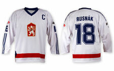 Team Czechoslovakia CSSR Ice Hockey WHITE Jersey Custom Name and Number