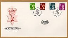1991 Northern Ireland Machin Definitive Stamps FDC Belfast Red Hand SHS