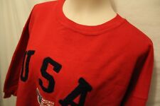 Usa Flag Sweatshirt Creative Mills Women's Sz Large 3Xl 3/4 Sleeve Cotton Blend