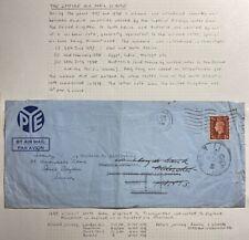 1938 London England Airmail Commercial Cover To Zerka Transjordan Via Khartoum