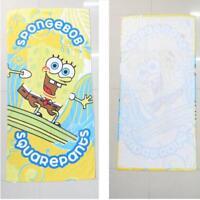 Spongebob yellow cotton bath towel 120X60CM bath swimming beach towels anime gif