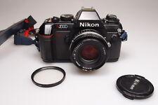 NIKON N2000  35mm SLR CAMERA W/NIKON NIKKOR 50mm 1:1.8 LENS EXCELLENT