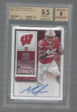 MELVIN GORDON 2015 CONTENDERS COLLEGE SHORT PRINT SP AUTO RC BGS 9.5 GEM MINT