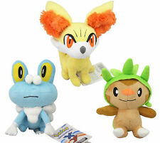 3pcs Pokemon Chespin Fennekin Froakie Plush Toy Stuffed Kid Doll Gift