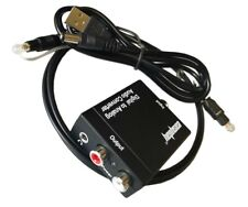 Optical Coaxial Toslink Digital to Analog Audio Converter Adapter 3.5mm RCA L /R