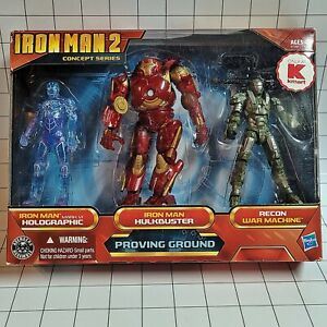 """Iron Man 2 - 3.75"""" Action Figure Concept Series Proving Ground (Kmart 3-Pack)"""