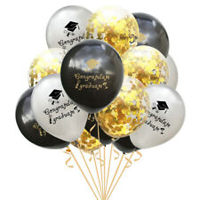 15Pcs Exquisite Nontoxic Balloons 12� Graduation Theme Balloons Party Supplies