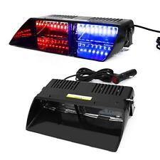 Hot! Car 16 LED Red/Blue Police Strobe Flash Light Dash Emergency Flashing Light