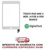 VETRO TOUCH SCREEN PER APPLE IPAD MINI 4 WIFI 3G MOD A1538 A1550 BIANCO