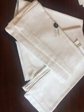"""Giuseppe Guli Made in Italy 4pc 100% Cotton Dinner Napkins 21"""" x 21"""" Hemstitched"""