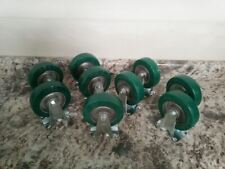 Locking and 2 Set of 4 used Caster Wheels 2 regular Wheels  Blickle Germany