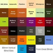 Replacement Vertical Blind Slats 32 Colours 89mm (3.5 Inch) Slats + FREE EXTRAS
