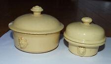 2 petits pots à terrine tête de lion - Luneville - XIXè 1896 - fois gras/caviar