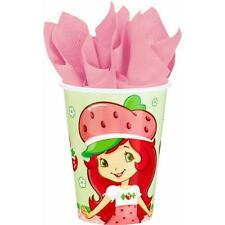 Strawberry Shortcake Party 9 oz Paper Cups 8 Count Birthday Party Supplies New