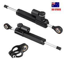 1xCNC Steering Damper Motorcycle Stabilizer Linear Reversed Safety Control Black