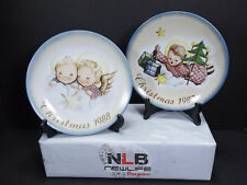 Schmid Angelic Gifts 1987 & 1988 Cheerful Cherubs Collectors Plates